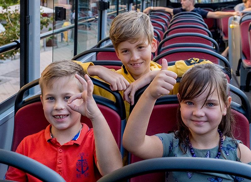 Stadtrundfahrt für Kinder